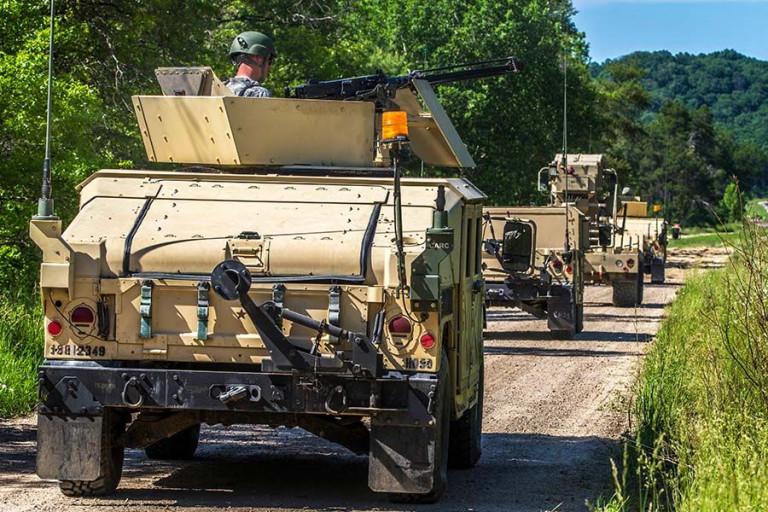 HMMWVs (Humvees)